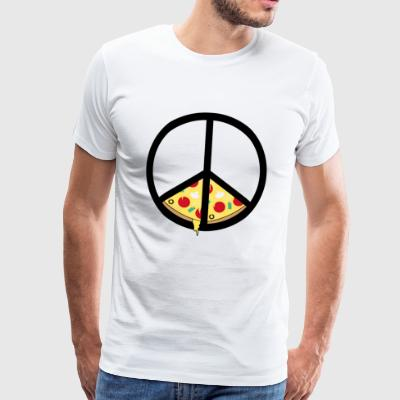 Pizza and peace - Men's Premium T-Shirt