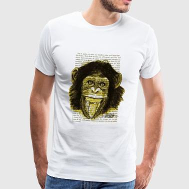 GUL MONKEY - Premium T-skjorte for menn