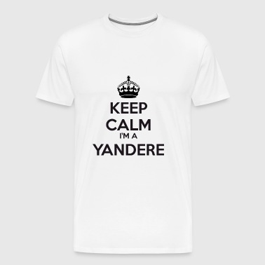 Yandere keep calm - Premium-T-shirt herr