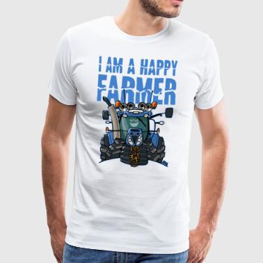 i am a happy farmer - Mannen Premium T-shirt