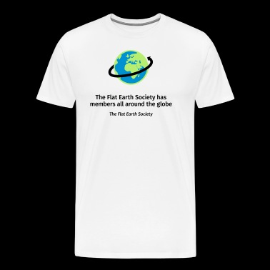 Flat Earthers all around the globe - Men's Premium T-Shirt