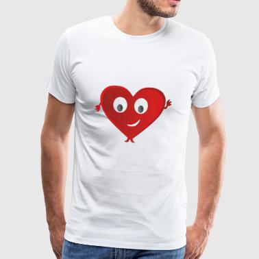 The heart of the love life - Men's Premium T-Shirt