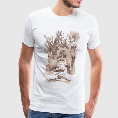 Seer in thorn bushes - Men's Premium T-Shirt