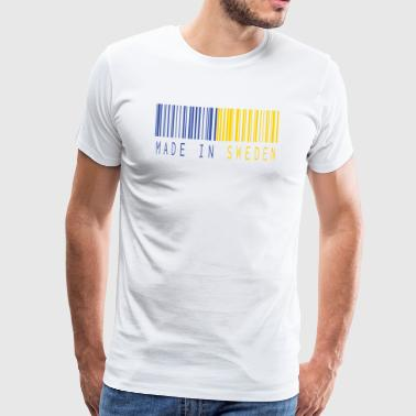 MADE IN SWEDEN BARCODE - Männer Premium T-Shirt