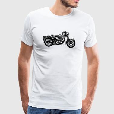 Motorcycle / Classic Motorcycle 04_black - Men's Premium T-Shirt