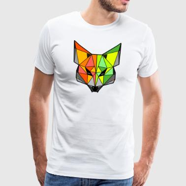 Colourful Fennec Fox - Men's Premium T-Shirt