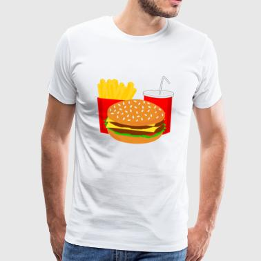 Burger Menu Fast Food Cola Gift Gift Idea - Men's Premium T-Shirt