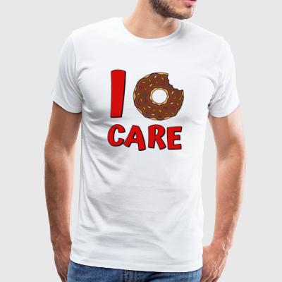 Donut Spruch I Donut Care in rot - Männer Premium T-Shirt