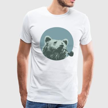 smoking Bear - Mannen Premium T-shirt