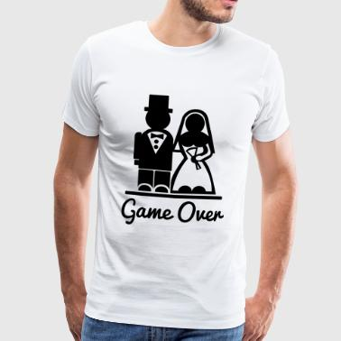 T-shirt Game Over. I'm married. - Men's Premium T-Shirt