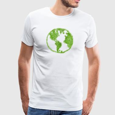 Green Grass World - Premium-T-shirt herr