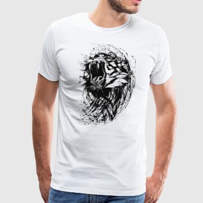 Lion Raw - T-shirt Premium Homme