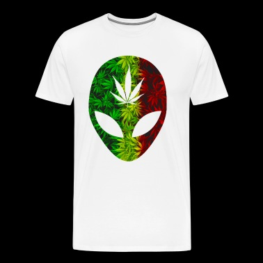 Rasta 420 Alien - Men's Premium T-Shirt