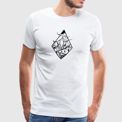 Lozenge cr - Men's Premium T-Shirt