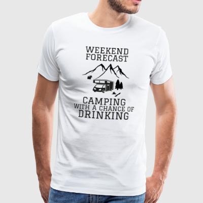 Camping forecast - Men's Premium T-Shirt