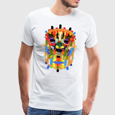 Mayan mask - Men's Premium T-Shirt