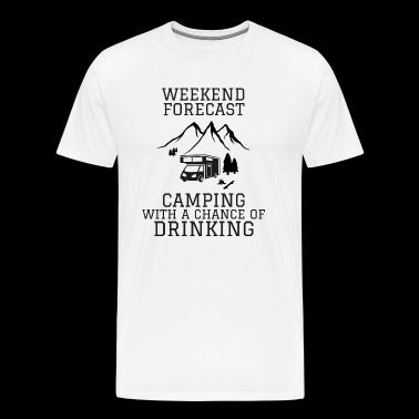 Camping prognose - Premium T-skjorte for menn