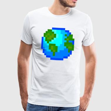 Idée cadeau Pixelart World Planet Nature Pixelart - T-shirt Premium Homme