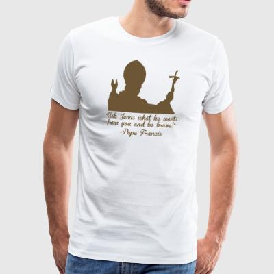 Paus Faith and Religion - Mannen Premium T-shirt