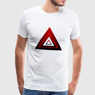 Red Ruby Rose Pyramid - Herre premium T-shirt