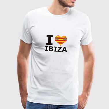 I LOVE ibiza flag - Men's Premium T-Shirt