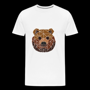 Brown Bear - Polygon Motif - Geometric - Gift - Men's Premium T-Shirt