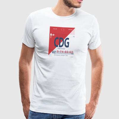 Aéroport Paris - T-shirt Premium Homme