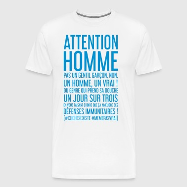 ATTENTION HOMME - T-shirt Premium Homme