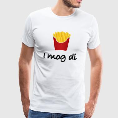 French fries love Bavaria dialect gift idea - Men's Premium T-Shirt