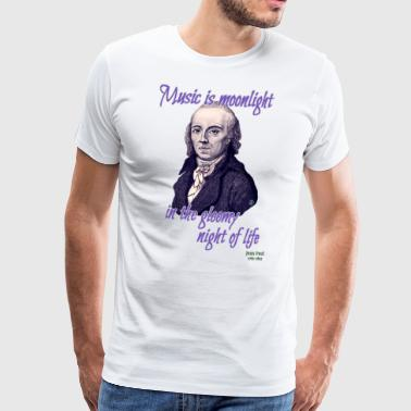A quote by Jean Paul: Music - Men's Premium T-Shirt