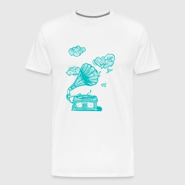 Grammophon - Turquoise - T-shirt Premium Homme
