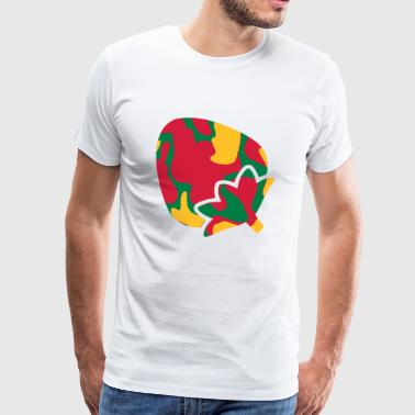 Jordgubb / STRAWBERRY - CAMO / CAMO - Premium-T-shirt herr