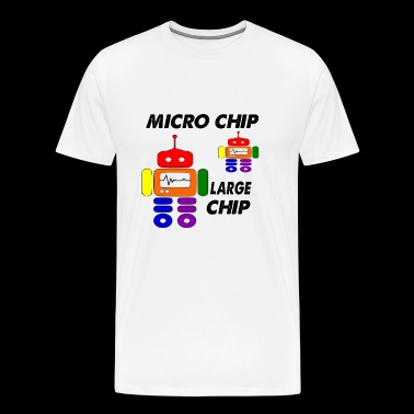micro chip large chip - Men's Premium T-Shirt
