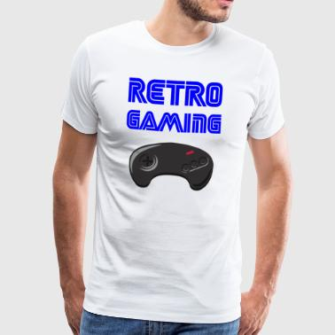 retrogaming - Premium T-skjorte for menn
