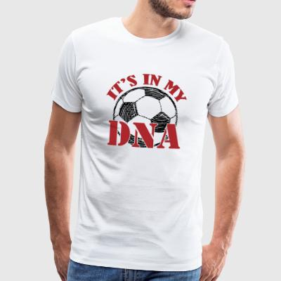 Voetbal DNA - Football - Mannen Premium T-shirt