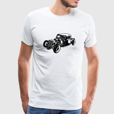Hot Rod / Rat Rod 08_white - Men's Premium T-Shirt