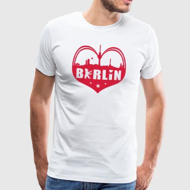 Bear Skyline Heart Hood Chiller Berlin - Mannen Premium T-shirt