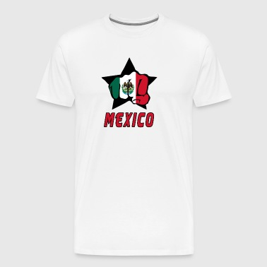 Mexico næve med national flag - Herre premium T-shirt
