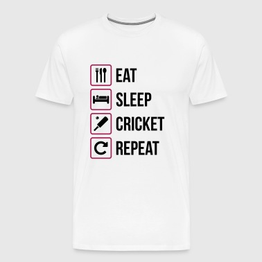 Eat Sleep Cricket Repeat - Premium-T-shirt herr