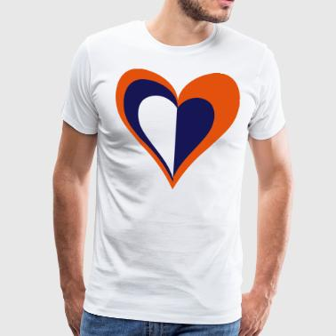 Heart Valentine's Day - Men's Premium T-Shirt