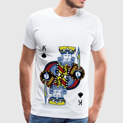 Roi de Pique Poker Hold'em - T-shirt Premium Homme