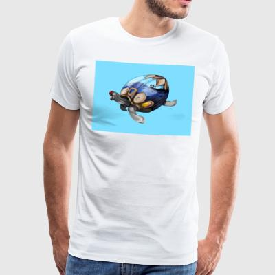 SPACE BLUE TURTLE - Männer Premium T-Shirt