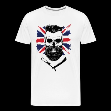 bearded union jack - Men's Premium T-Shirt