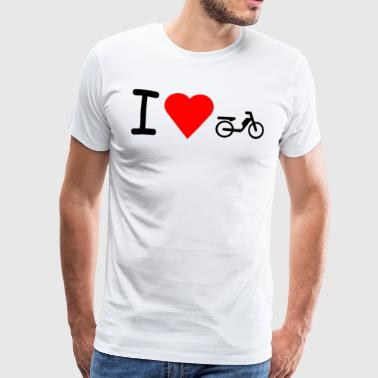 I love Mofa Moped Mokick - Männer Premium T-Shirt