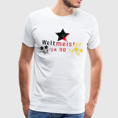 World Champion Star Football Gift Idea Sport - Men's Premium T-Shirt