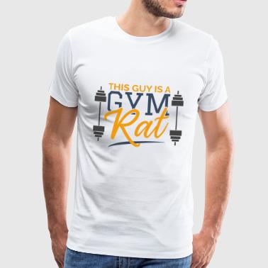 Deze man is een Gym Rat sportengift Training - Mannen Premium T-shirt