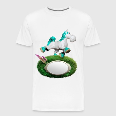 Pony cyan - Men's Premium T-Shirt
