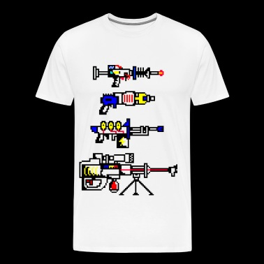futuristic weapons - Men's Premium T-Shirt