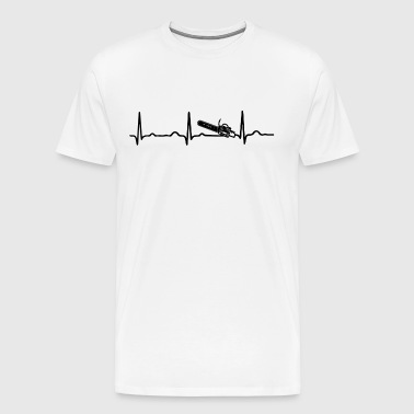ECG HEARTBEAT CHAIN SAW - Men's Premium T-Shirt