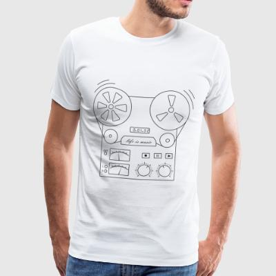 magnetic tape recorder - Men's Premium T-Shirt